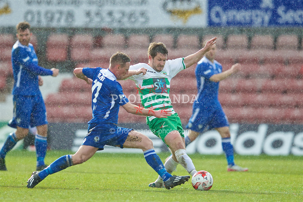 WREXHAM, WALES - Monday, May 2, 2016: The New Saints' Christian Sergeant in action against Airbus UK Broughton during the 129th Welsh Cup Final at the Racecourse Ground. (Pic by David Rawcliffe/Propaganda)