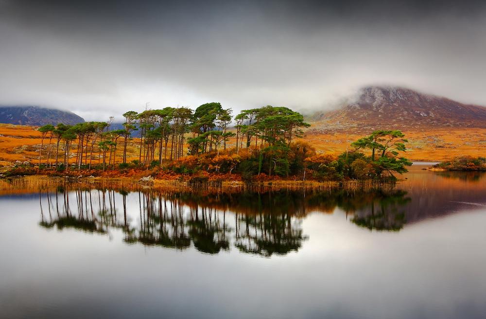 Lake in Connemara, County Galway, Ireland.