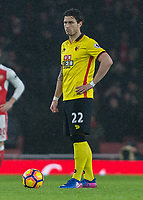 Football - 2016 / 2017 Premier League - Arsenal vs. Watford <br /> <br /> Daryl Janmaat of Watford at The Emirates.<br /> <br /> COLORSPORT/DANIEL BEARHAM