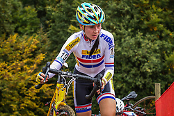 Nikki HARRIS (GBR) of Telenet Fidea in 3rd position at the 1st Cyclo-cross World Cup stage - Valkenburg, Netherlands - 20th October 2013 - Photo by Thomas van Bracht / Peloton Photos