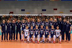 26-05-2017 NED: Nederland - Italie, Apeldoorn<br /> Kick off voor het Nederlands vrouwenteam begon met een oefenwedstrijd in Apeldoorn. Italië werd met 3-1 verslagen / Italia team