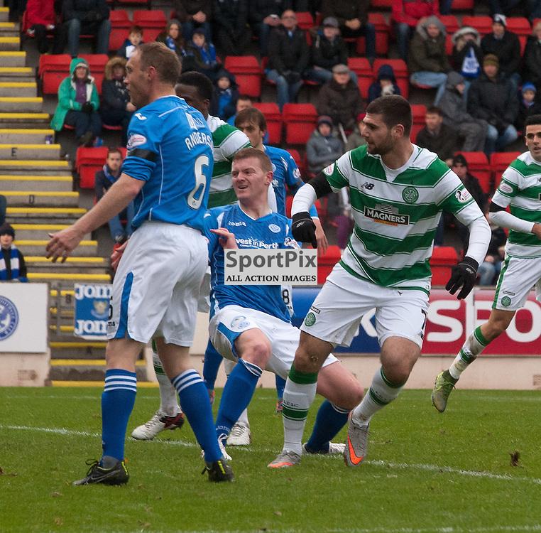 #7 Nadir Ciftci (Celtic) opens the scoring<br /> <br /> St Johnstone v Celtic &bull; Ladbrokes Premiership &bull; 13 December 2015<br /> <br /> &copy; Russel Hutcheson | SportPix.org.uk