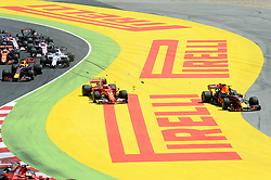 May 15, 2017 - Montmelo, Spanien - 170514 Max Verstappen, NED and Kimi Raikonen, FIN,  under Spaniens Grand Prix den 13 maj 2017 i Barcelona  (Credit Image: © Patrik Lundin/Bildbyran via ZUMA Wire)