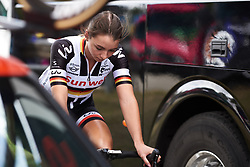 Liane Lippert (GER) warms up at Ladies Tour of Norway 2018 Stage 1, a 127.7 km road race from Rakkestad to Mysen, Norway on August 17, 2018. Photo by Sean Robinson/velofocus.com