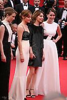 Taissa Fariga, Emma Watson, Sofia Coppola, Katie Chang.at the gala screening of Jeune & Jolie at the 2013 Cannes Film Festival 16th May 2013
