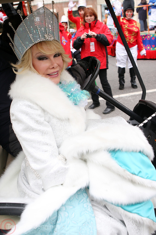 25 November 2010- New York, NY- Joan Rivers at The Macy's 84th Annual Thanksgiving Day Parade held along Central Park West on the UpperWest Side of New York City on November 25, 2010 in New York City. Photo Credit: Terrence Jennings