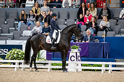 PERRY-GLASS Kasey (USA), Goerklintgaards Dublet<br /> Göteborg - Gothenburg Horse Show 2019 <br /> FEI Dressage World Cup™ Final I<br /> Int. dressage competition - Grand Prix de Dressage<br /> Longines FEI Jumping World Cup™ Final and FEI Dressage World Cup™ Final<br /> 05. April 2019<br /> © www.sportfotos-lafrentz.de/Stefan Lafrentz
