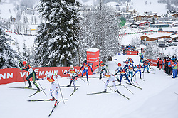 16.12.2017, Nordische Arena, Ramsau, AUT, FIS Weltcup Nordische Kombination, Langlauf, im Bild v. l.: Luis Lehnert (GER), Joergen Graabak (NOR), Mario Seidl (AUT) und andere Teilnehmer // f. l.: Luis Lehnert of Germany, Joergen Graabak of Norway, Mario Seidl of Austria and other competitors during Cross Country Competition of FIS Nordic Combined World Cup, at the Nordic Arena in Ramsau, Austria on 2017/12/16. EXPA Pictures © 2017, PhotoCredit: EXPA/ Martin Huber