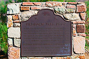 Historic plaque marking the Eichbaum Toll Road (first tourist road into Death Valley), Death Valley National Park. California