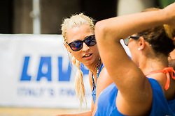 Erika Fabjan of Sberbank during Qlandia Beach Challenge 2015 and Beach Volleyball Slovenian National Championship 2015, on July 25, 2015 in Kranj, Slovenia. Photo by Ziga Zupan / Sportida