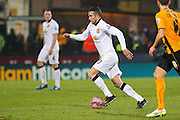 Manchester United's Robin Van Persie on the ball during the The FA Cup match between Cambridge United and Manchester United at the R Costings Abbey Stadium, Cambridge, England on 23 January 2015. Photo by Phil Duncan.