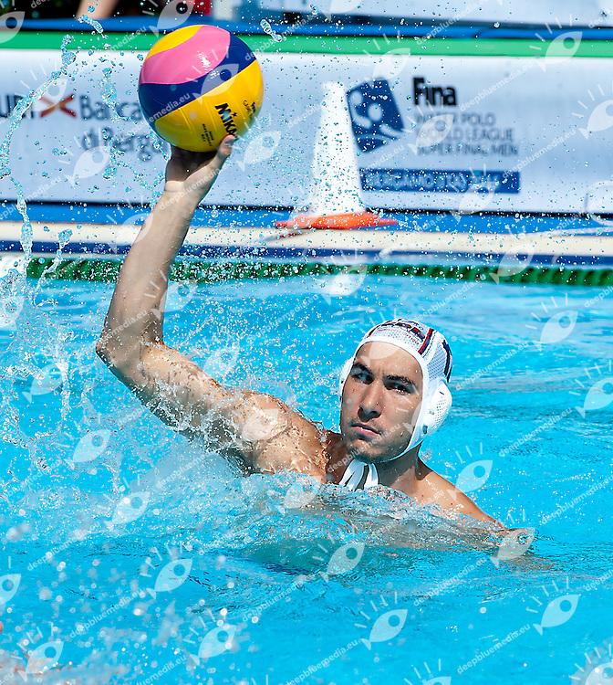 12 MITROVIC Stefan SRB<br /> Serbia SRB - United States USA<br /> day 01 - 23/06/2015<br /> FINA Water Polo World League Superfinal Men<br /> Bergamo (ITA) 23-28 June 2015<br /> Photo G.Scala/Deepbluemedia