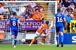 Jay Spearing of Blackpool scores a goal to make it 1-0 - Mandatory by-line: Robbie Stephenson/JMP - 03/08/2019 - FOOTBALL - Bloomfield Road - Blackpool, England - Blackpool v Bristol Rovers - Sky Bet League One