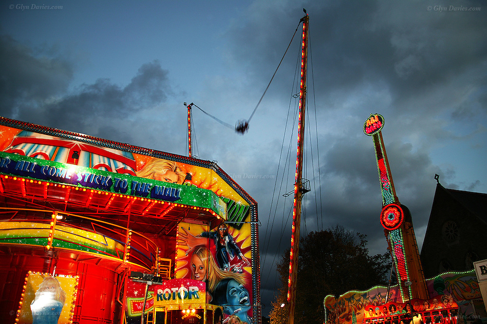 "The tradional and long established ""Ffair Borth"" or Menai Bridge Fair, at Menai Bridge village on the Isle of Anglesey. This was once a horse fair, but is now predominantly a fun fair  aimed at youngsters, which demands closure of several roads and car parks for the two days of the event"