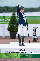 Sanne Voets, NED, Vedet PB N.O.P. silver during the Individual Grade III test - Team Competition Grade III Para Dressage - Alltech FEI World Equestrian Games™ 2014 - Normandy, France.<br /> © Hippo Foto Team - Jon Stroud <br /> 25/06/14