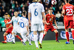 Miha Zajc of Slovenia and Rene Krhin of Slovenia vs Ilija Nestorovski of Macedonia and Eljif Elmas of Macedonia during football match between National teams of Slovenia and North Macedonia in Group G of UEFA Euro 2020 qualifications, on March 24, 2019 in SRC Stozice, Ljubljana, Slovenia.  Photo by Matic Ritonja / Sportida