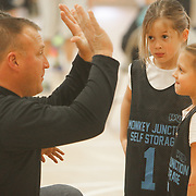 Coach Mike Kiglics talks to his team during Halo Basketball Saturday December 20, 2014 at Grace United Methodist Church in Wilmington, N.C. (Jason A. Frizzelle)