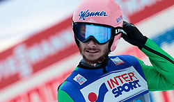 03.01.2016, Bergisel Schanze, Innsbruck, AUT, FIS Weltcup Ski Sprung, Vierschanzentournee, Bewerb, im Bild Manuel Fettner (AUT) // Manuel Fettner of Austria reacts after his Competition Jump of Four Hills Tournament of FIS Ski Jumping World Cup at the Bergisel Schanze, Innsbruck, Austria on 2016/01/03. EXPA Pictures © 2016, PhotoCredit: EXPA/ JFK