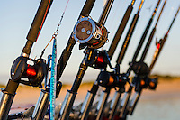 Recreational rods and reels, Struisbaai, Western Cape, South Africa