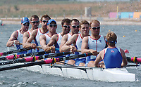 20040815 Olympic Games Athens Greece [Rowing]<br />  Schinias Photo  Peter Spurrier <br /> GBR M8+ [left to right] Dan Ousley, 7. Robin Bourne-Taylor, 6.Phil Simmons, 5.Tom Stallard. 4. Andrew Hodge, 3 Josh West, 2. Kieran West and Jonno Devlin.