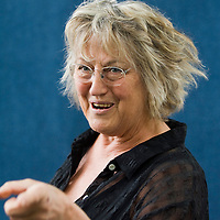 EDINBURGH, SCOTLAND - AUGUST18. Germaine Greer poses during a portrait session held at Edinburgh Book Festival on August 18, 2007  in Edinburgh, Scotland. (Photo by Marco Secchi/Getty Images)