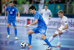 Dauren Nurgozhin of Kazakhstan during futsal match between Poland and Kazakhstan at Day 3 of UEFA Futsal EURO 2018, on February 1, 2018 in Arena Stozice, Ljubljana, Slovenia. Photo by Urban Urbanc / Sportida