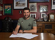 Dundee&rsquo;s Kostadin Gadzhalov pictured signing a contract extension at Dens Park, Dundee, Photo: David Young<br /> <br />  - &copy; David Young - www.davidyoungphoto.co.uk - email: davidyoungphoto@gmail.com