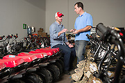 01/14/2016 123553 -- Garland, TX -- © Copyright 2016 Mark C. Greenberg<br /> <br /> CEO Alex Keechle and President and COO Rick Sukkar of Garland, Texas based Monster Moto.