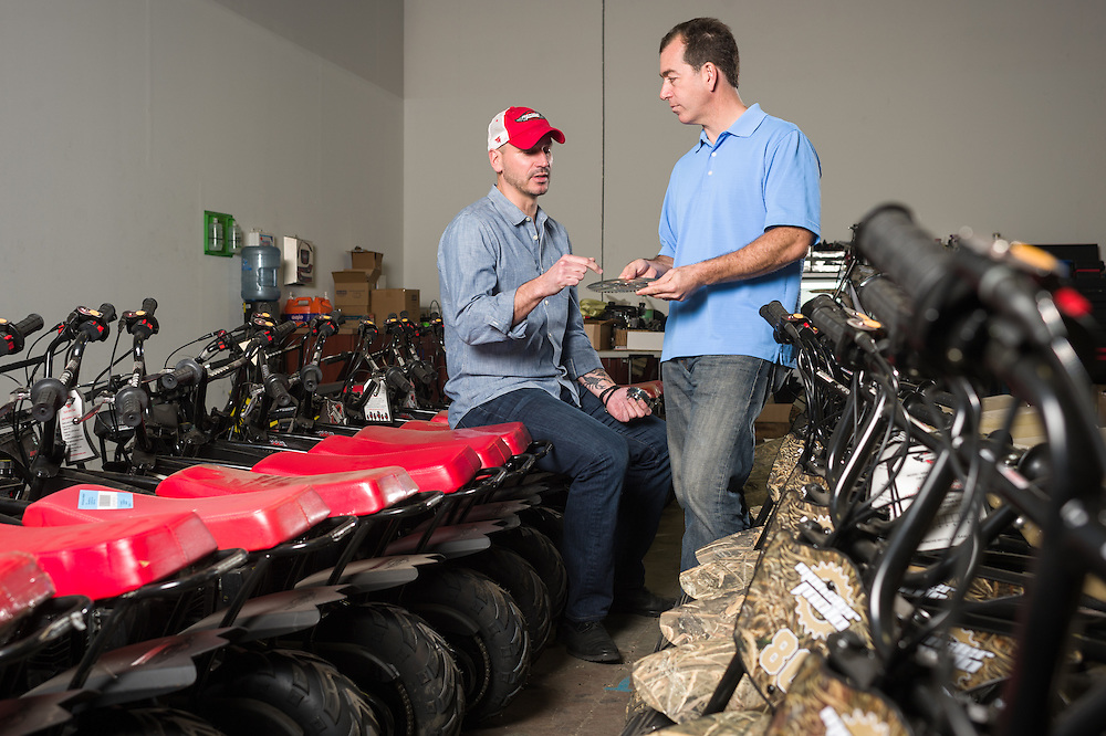 01/14/2016 123553 -- Garland, TX -- &copy; Copyright 2016 Mark C. Greenberg<br /> <br /> CEO Alex Keechle and President and COO Rick Sukkar of Garland, Texas based Monster Moto.