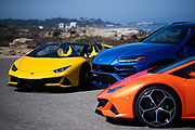 August 15, 2019:  Monterey Car Week, Lamborghini Evo Spyder, Urus and Evo