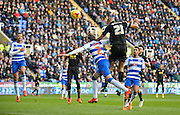 Bolton Wanderers midfielder Darren Pratley with a header at goal saved by Reading goalkeeper Ali Al Habsi during the Sky Bet Championship match between Reading and Bolton Wanderers at the Madejski Stadium, Reading, England on 21 November 2015. Photo by Adam Rivers.