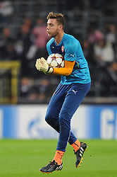 Arsenal's Ryan Huddart - Photo mandatory by-line: Dougie Allward/JMP - Mobile: 07966 386802 - 22/10/2014 - SPORT - Football - Anderlecht - Constant Vanden Stockstadion - R.S.C. Anderlecht v Arsenal - UEFA Champions League - Group D