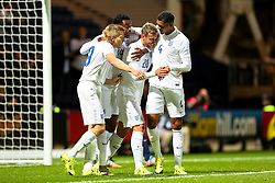 James Wilson of England U21 celebrates after scoring the opening goal  - Mandatory byline: Matt McNulty/JMP - 07966386802 - 03/09/2015 - FOOTBALL - Deepdale Stadium -Preston,England - England U21 v USA U23 - U21 International
