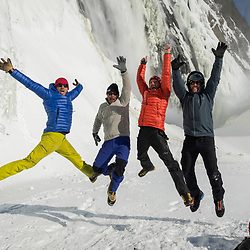 The final day of shooting for Rab in Quebec. Francois Guy Thivierge, Jeff Mercier, Dany Julien and myelf celebrating an awesome 2 weeks.