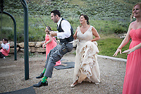 Wedding — Amber Findahl and Kelly Gile, Chapel of the Transfiguration, Grand Teton National Park, Wyo.