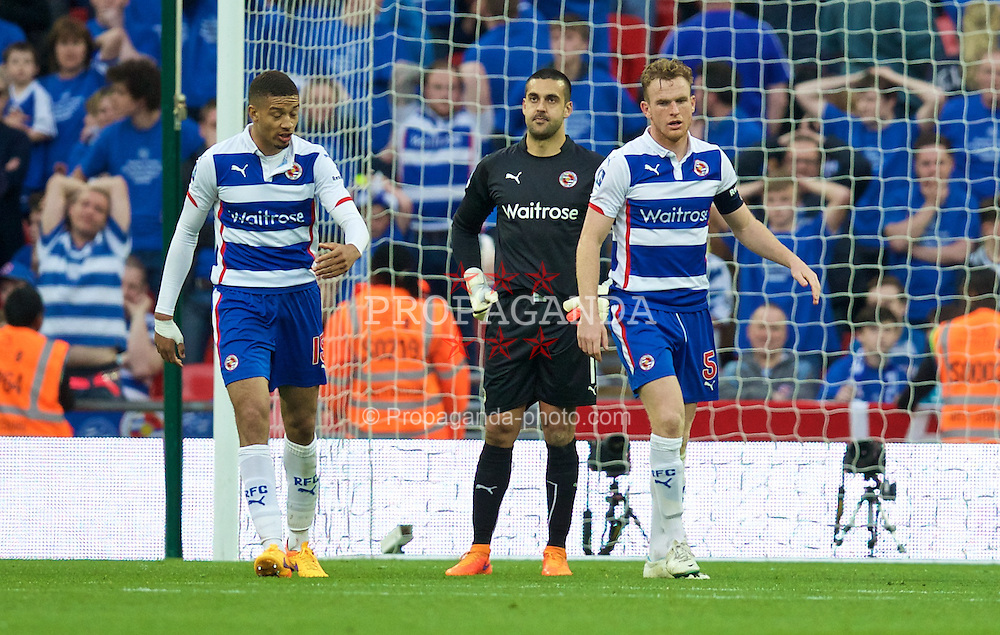 LONDON, ENGLAND - Saturday, April 18, 2015: Reading's goalkeeper Adam Federici looks dejected after conceding an own goal against Arsenal during the FA Cup Semi-Final match at Wembley Stadium. (Pic by David Rawcliffe/Propaganda)