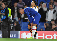 Football - 2019 / 2020 UEFA Champions League - Group H: Chelsea vs. Valencia CF<br /> <br /> A dejected Ross Barkley of Chelsea at the final whistle after missing his penalty kick that when over the bar, at Stamford Bridge.<br /> <br /> COLORSPORT/ANDREW COWIE