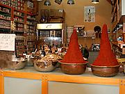 Israel, West Jerusalem Machane Yehuda market spice stall