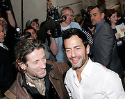 Julien D'ys and Marc Jacobs pose at 'The Model as  Muse: Embodying Fashion' Press conference at the Costume Institute in the Metropolitan Museum of Art  New York City, USA on May 4, 2009