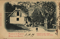 Pozdrav iz Zagreba : Gostiona na cesti u Sestine = Gruss aus Agram : Gasthaus am Wege nach Sestina. <br /> <br /> ImpresumZagreb : Papirnica J. i S. Fürst, [1899].<br /> Materijalni opis1 razglednica : tisak ; 9 x 14,2 cm.<br /> NakladnikPapirnica J. i S. Fürst<br /> Vrstavizualna građa • razglednice<br /> ZbirkaZbirka razglednica • Grafička zbirka NSK<br /> Formatimage/jpeg<br /> PredmetZagreb –– Šestine<br /> Jeziknjemački • hrvatski<br /> SignaturaRZG-SEST-2<br /> Obuhvat(vremenski)19. stoljeće<br /> NapomenaRazglednica je putovala 1899. godine. • Poleđina razglednice namijenjena je samo za adresu.<br /> PravaJavno dobro<br /> Identifikatori000954688<br /> NBN.HRNBN: urn:nbn:hr:238:731859 <br /> <br /> Izvor: Digitalne zbirke Nacionalne i sveučilišne knjižnice u Zagrebu