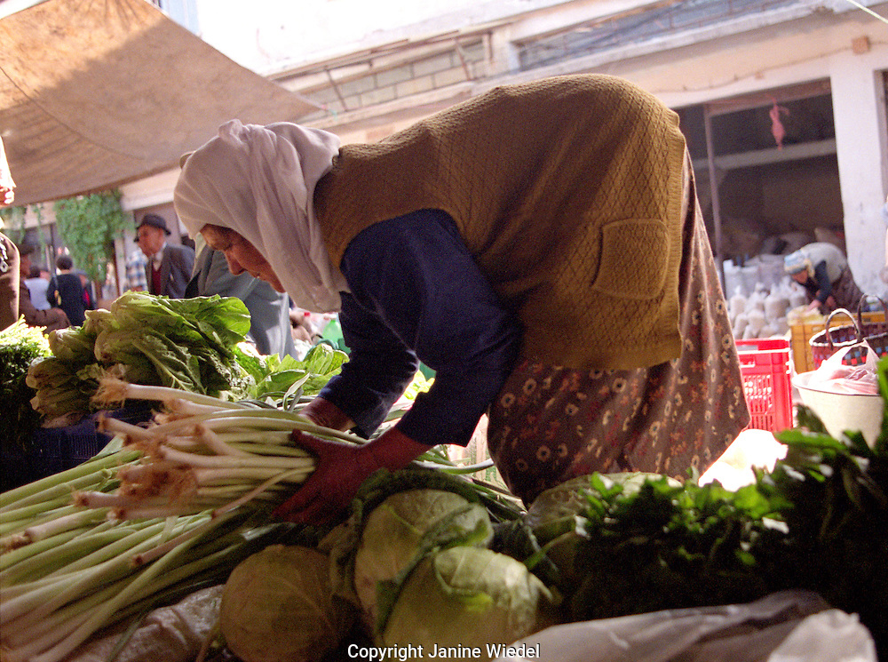 Weekly produce  market in small town of Mulga in South Western Turkey.