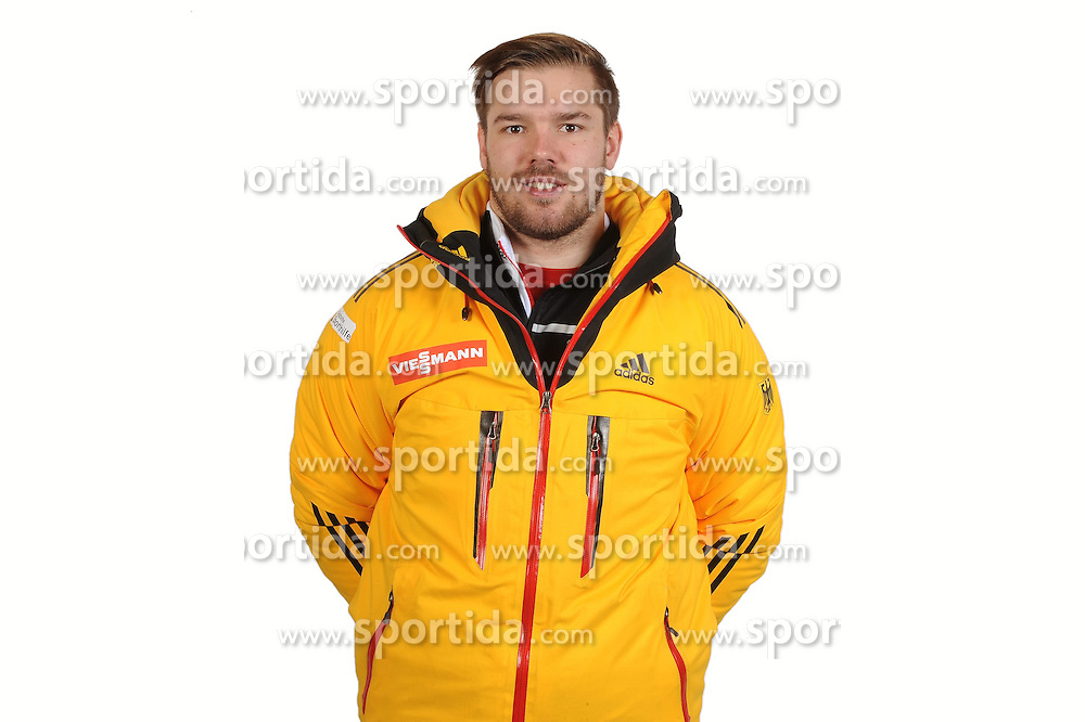03.01.2014, Kunsteisbahn, Koenigssee, GER, BSD, Rennrodler Team Deutschland, Portrait, im Bild Nico Gruessner (RRC Waltershausen) // during Luge athletes of team Germany, Portrait Shooting at the Kunsteisbahn in Koenigssee, Germany on 2014/01/04. EXPA Pictures &copy; 2014, PhotoCredit: EXPA/ Eibner-Pressefoto/ Stuetzle<br /> <br /> *****ATTENTION - OUT of GER*****