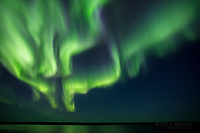 Northern lights over Ennadai Lake, Nunavut, Canada