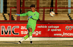 A Trialist for Bristol City Under 21s takes part in the preseason friendly at Weymouth - Mandatory by-line: Robbie Stephenson/JMP - 13/07/2016 - FOOTBALL - Bob Lucas Stadium - Weymouth, England - Weymouth FC v Bristol City Under 21s - Pre-season friendly
