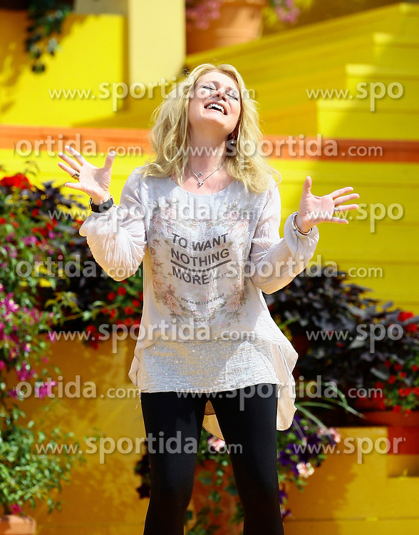 14.06.2015, Europapark, Rust, GER, ARD TV Show, Immer wieder Sonntags, im Bild Nicole (Saengerin) // during the ARD TV Show &quot;Immer wieder Sonntags&quot; at the Europapark in Rust, Germany on 2015/06/14. EXPA Pictures &copy; 2015, PhotoCredit: EXPA/ Eibner-Pressefoto/ Goermer<br /> <br /> *****ATTENTION - OUT of GER*****