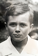 portrait of a young boy out of focus ca 1950s