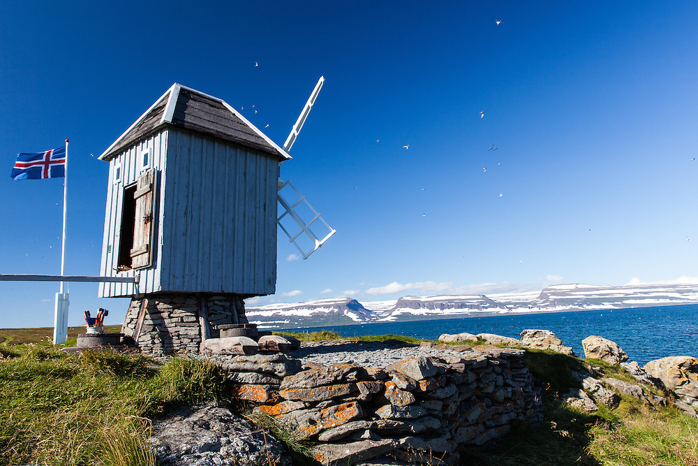 Vigur island's windmill built in 1840, is the only old windmill left standing in Iceland.