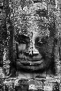 The Bayon at Angkor Thom. <br /> Large head.<br /> Nov. 2001