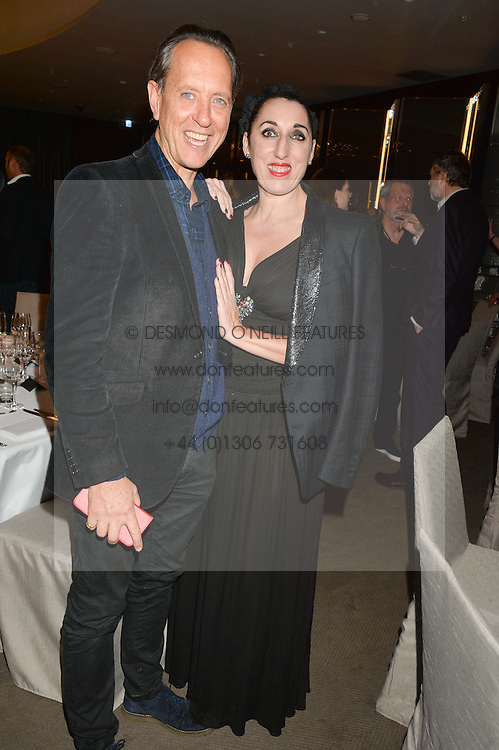 RICHARD E GRANT and ROSSY DE PALMA at a dinner hosted by Liberatum to honour Francis Ford Coppola held at the Bulgari Hotel & Residences, 171 Knightsbridge, London on 17th November 2014.