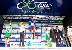 Aljaz Jarc (SLO) of Adria Mobil, best in Mountain classification celebrates at trophy ceremony  during 1st Stage of 26th Tour of Slovenia 2019 cycling race between Ljubljana and Rogaska Slatina (171 km), on June 19, 2019 in  Slovenia. Photo by Vid Ponikvar / Sportida